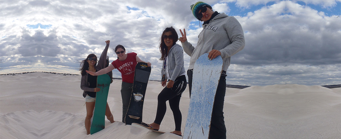 perth to broome tours lancelin sandboarding